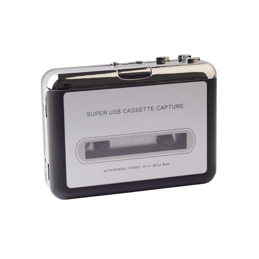 Cassette Player Portable USB Cassette Tape to MP3 CD Converter Audio Tape Capture Stereo Audio Music Player with Earphones No PC Compatible