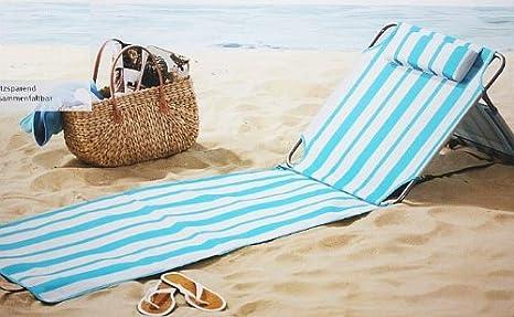 Crivit strandliege  Crivit Beach Strandliege Isomatte verstellbare Rückenlehne Relax ...