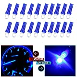 honda civic 1993 accessories - CCIYU 20 Pack Blue 37 58 70 73 74 T5 Diode LED Chips Dashboard Panel Gauge Cigarette lighter Ashtray light Speedometer Odometer Tachometer Instrument Panel LED Wedge Bulbs