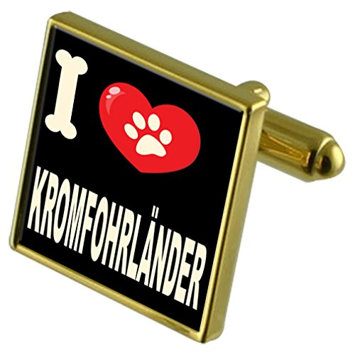 Cufflinks Kromfohrländer amp; Love Clip Tone Money Gold Dog Gifts My Select I PT0O4