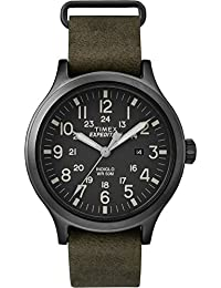 TW4B06700 Men's Expedition Scout Military Indiglo Leather Band Watch
