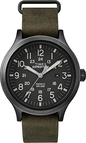 Men's Expedition Scout Military Indiglo Leather Band Watch - Timex TW4B06700