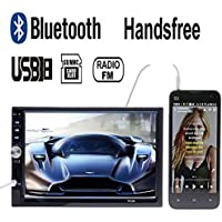 KASIONVI 7HD 2DIN Bluetooth Car Stereo Touch Screen MP5 Player Support Rear View Camera-input