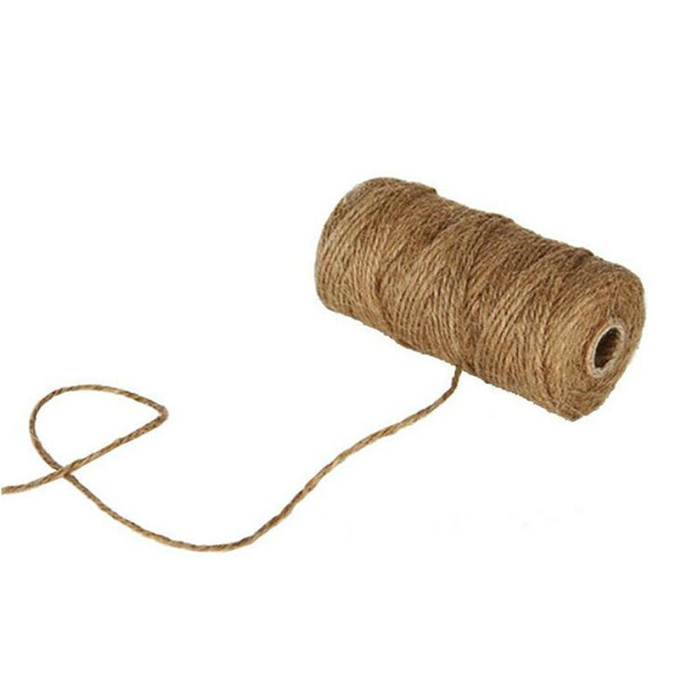 Cosanter Handmade Retro Hemp Rope Jute Twine 328 Feet Box Wrapping Cotton Decoration Gift Wrap Packing Rope