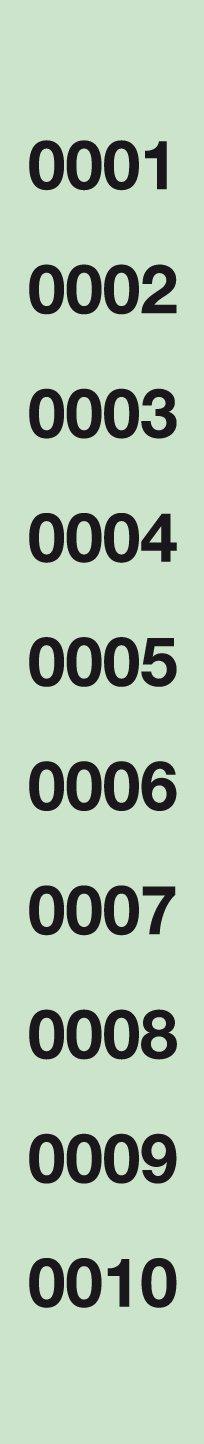 APLI 12939 - Tira de rifa lluminetas 1-1000 (A-980)