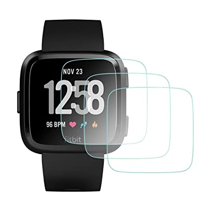 AWINNER Glass for Fitbit Versa,Screen Protector Ultra-Clear Tempered-Glass for Fitbit Versa Smartwatch [3-Pack]