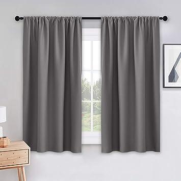 Amazoncom Pony Dance Grey Blackout Curtains Rod Pocket Drapes