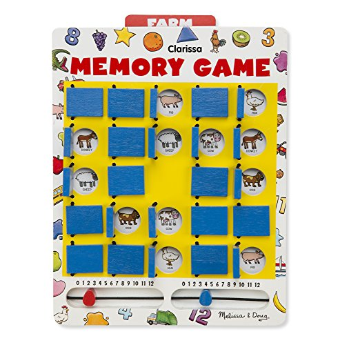 Melissa & Doug Personalized Flip to Win Memory 7 Double-Sided Cards Travel (Personalized Memory Game)