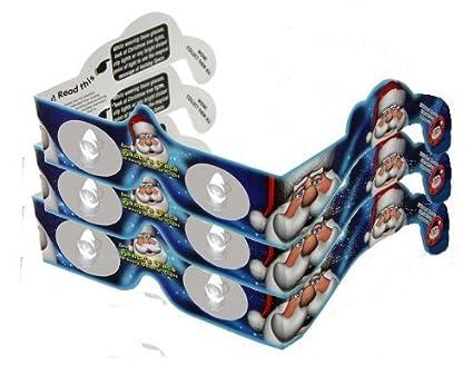 3d christmas glasses holiday specs santa 3 pairs transform christmas lights into