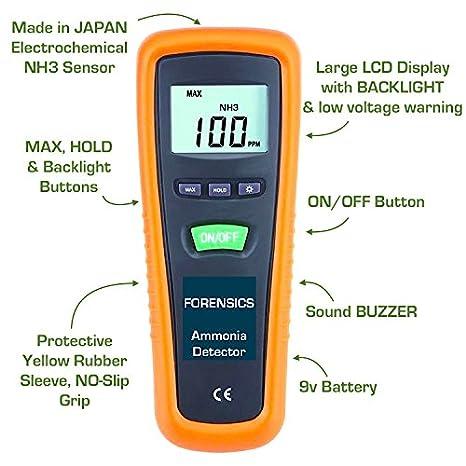 FORENSICS Analizador, contador y Detector de Nh3 amoníaco básico: Amazon.es: Bricolaje y herramientas