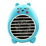 UCAN Safety Heater Fan Energy-saving Heater Cute Mini Household Room Office Desktop Electric Fan Heater Air Warmer (Blue)
