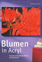 Blumen in Acryl: Faszinierende Blüten - Motive auf Keilrahmen