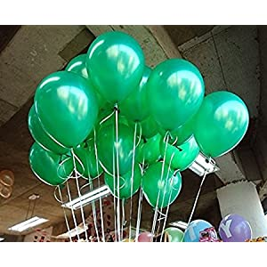 NHR Green Color Independence Day Balloon (Pack of 50, Green)