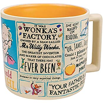 com roald dahl coffee mug famous characters and quotes