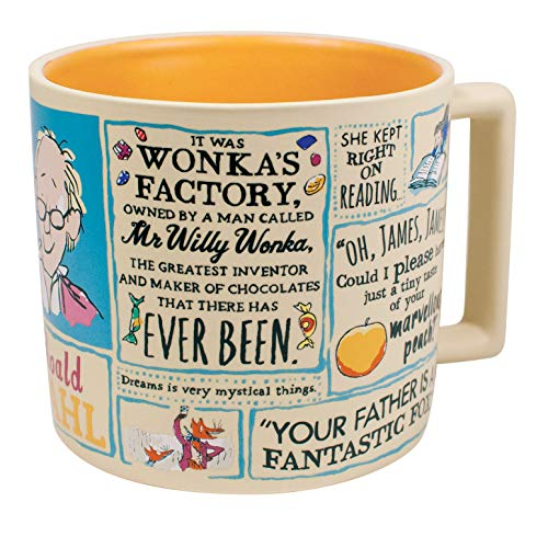 Roald Dahl Coffee Mug - Famous Characters and Quotes - Comes in a Fun Gift ()