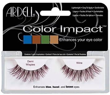 803051e83ca Amazon.com : Ardell Color Impact Fake Eyelashes, Demi Wispies Wine : Fake  Eyelashes And Adhesives : Beauty