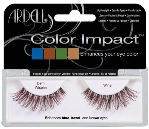 Ardell Color Impact Fake Eyelashes, Demi Wispies Wine