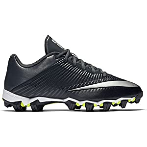 NIKE Men's Vapor Shark 2 Football Cleat Black/Anthracite/Metallic Silver Size 11.5 M US