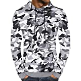 POHOK Clearance Deals ! Men's Autumn Camouflage Hooded Sweatshirt Outwear Tops Blouse