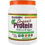 NutriBiotic Organic Protein Greens Veggies Creamy Vanilla 1 lb 3 oz 540 g
