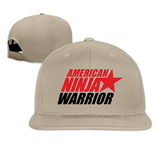 Beetful American Ninja Warrior Adjustable Snapback Hip-hop Baseball Cap Natural