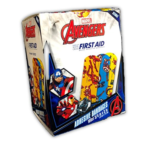 School Panthers Accessories - Marvel Avengers Bandages 100CT, 3/4