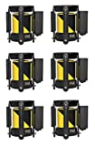 Replacement Belt Head Cassette For Retractable Belt Stanchion (6 PCS 6-1/2', Black/Yellow)