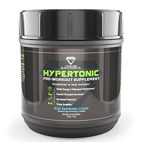 Vitalize Hypertonic Pre Workout with Creatine for Men and Women | Increases energy, performance, strength, endurance and intensity while boosting mood and muscle absorption