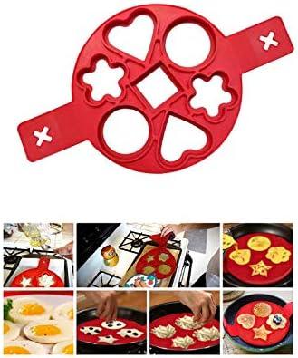 Pancake-Formen aus Silikon Yanhonin Silikonform Omelette schnell /& einfach f/ür Cr/êpes perfekte K/üchenutensilien