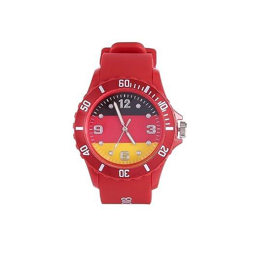 ndier Deporte Casual Tema fútbol Reloj Cuarzo Bandera Patterned Reloj Unisex Relojes Accesorios/Herramientas Reloj: Amazon.es: Relojes