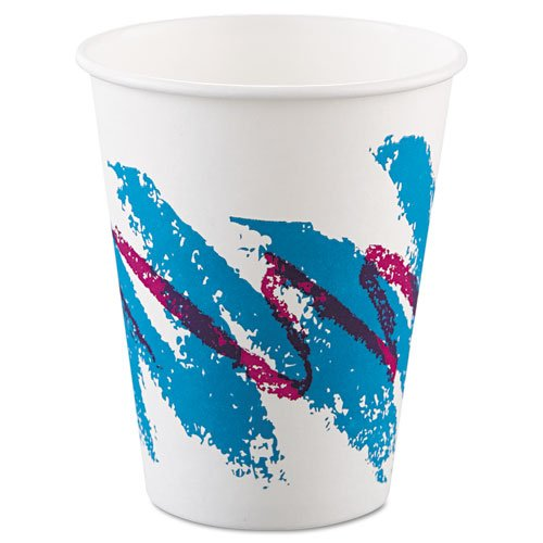 SOLO Cup Company Jazz Hot Paper Cups, 8 oz., Polycoated, Jazz Design, 50/Bag - 20 sleeves of 50 cups. 1000 per case.