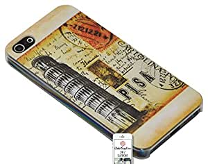 Case for Apple iphone 5c Italy Europe Pisa Leaning Tower Attractions Travel Post Card Stamp Matte