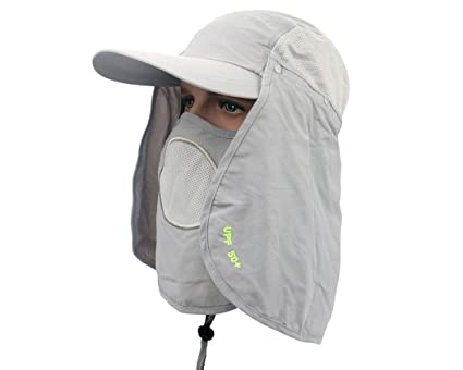 Work Product Protection Fishing For >> Ace Select Anti Uv Upf 50 Ultralight Breathable Flap Hat Neck Protection Cap W Removable Sun Shield Mask For Outdoor Fishing Hiking Garden Work