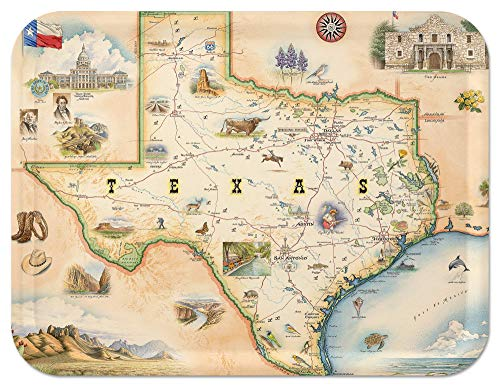 Trays4Us Texas 16x12 inches (Large) Map Serving Tray - 70+ Different Designs