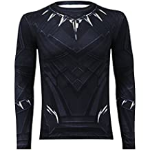 IFSONG Long Sleeves Black Panther Shirt - Cosplay Shirt For Theme Parties and Dating