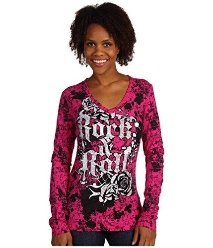 - Rock & Roll Cowgirl Women's Chocolate Serape Hooded Pullover - 48H7492 (Medium)