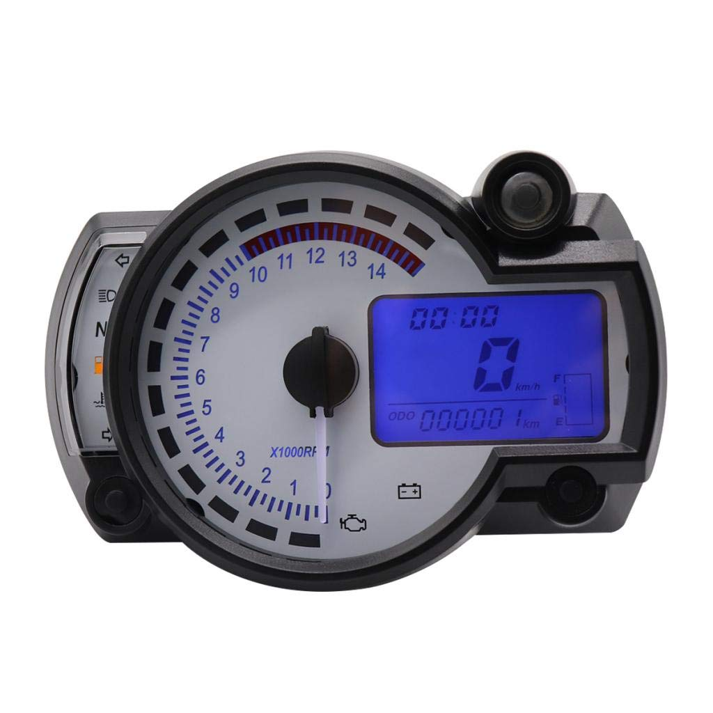 KESOTO DC12V LCD Digitaltacho Tachometer Motorrad Geschwindigkeitsmesser Drehzahlmesser