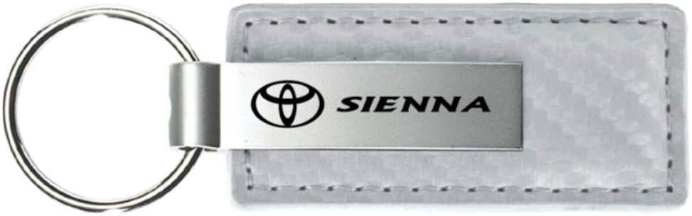 INC Toyota Sienna White Carbon Fiber Leather Key Chain Metal Au-Tomotive Gold