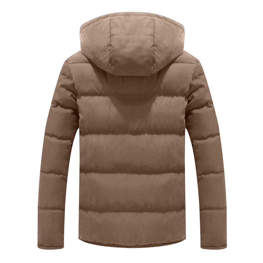 MODOQO Mens Warm Winter Hooded Zipper Jacket Lightweight Puffer Down Coat Top