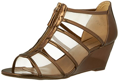 Bandolino Womens opie Wedge Sandal Dark Gold