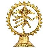 Artvarko Brass Metal Natraj Dancing God Shiva Idol Nataraja Dance Murti Hindu Statue for Home Office Decor Mandir Temple Gold 5 Inch Décor Gift