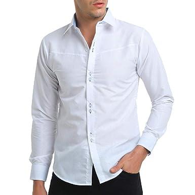 YanHoo Camisa de Vestir de Manga Larga con Estampado Formal y Estampado Formal otoñal Informal de Manga Larga para Hombres Nuevo: Amazon.es: Ropa y ...