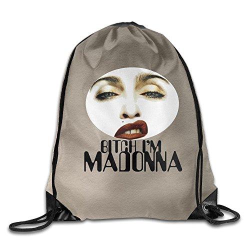 Madonna Like A Virgin Costume Amazon (SAXON13 Unisex Playful Bitch Sexy Woman Drawstring Bag)