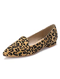 Allegra K Women's Slip On Padded Insole Pointed Toe Loafer Flats