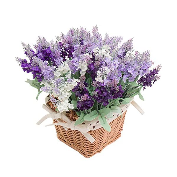 Wootkey-12-Pack-Artificial-Flower-Mixed-Color-Lavender-4-Bundle-Arrangement-for-Wedding-Bouquet-Silk-Fake-Faux-Flowers-with-Greenery-Leaves-Stems-Table-Centerpiece-Ideas-DIY-Home-Decor-Party