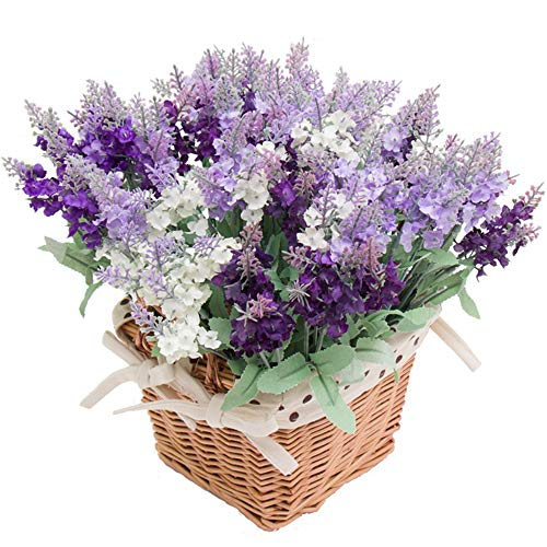 Wootkey 12 Pack Artificial Flower Mixed Color Lavender