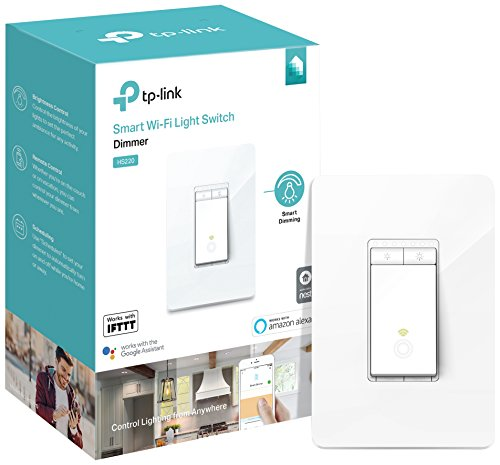 (Kasa Smart Light Switch, Dimmer by TP-Link - WiFi Light Switch, Neutral Wire, Works w/ Alexa & Google (HS220))