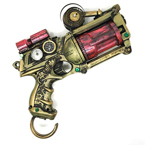 Steampunk Toy Gun Theater Prop Handpainted Cosplay Costume Accessory Soft Darts -