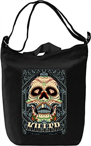 Sugar skull killer Borsa Giornaliera Canvas Canvas Day Bag| 100% Premium Cotton Canvas| DTG Printing|