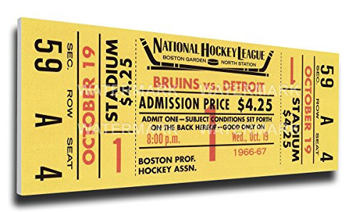 That's My Ticket Bobby Orr First NHL Game Mega Ticket Wall Decor, Boston (Ticket Boston Bruins Ticket)